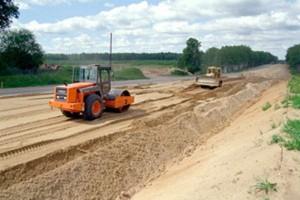 Дорожное строительство песок